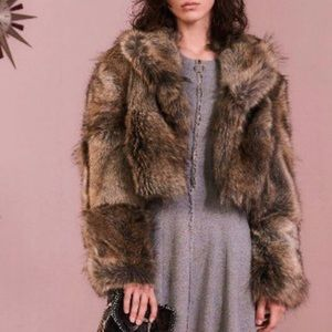 Stella McCartney NWT Cropped Fur Free Jacket 36